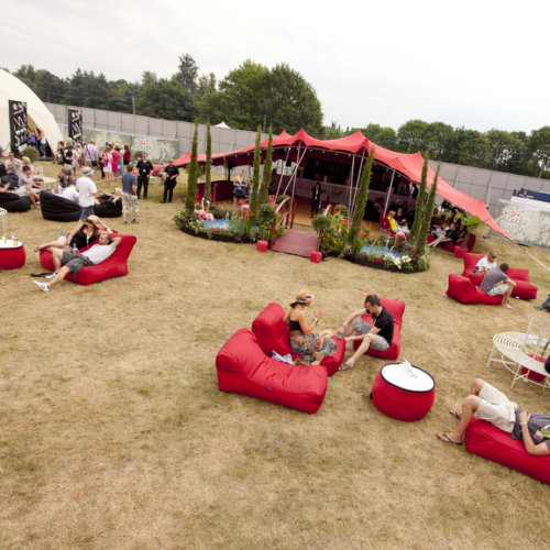 VIP Bean bag hire in the Louder Lounge for Virgin Media's V festival